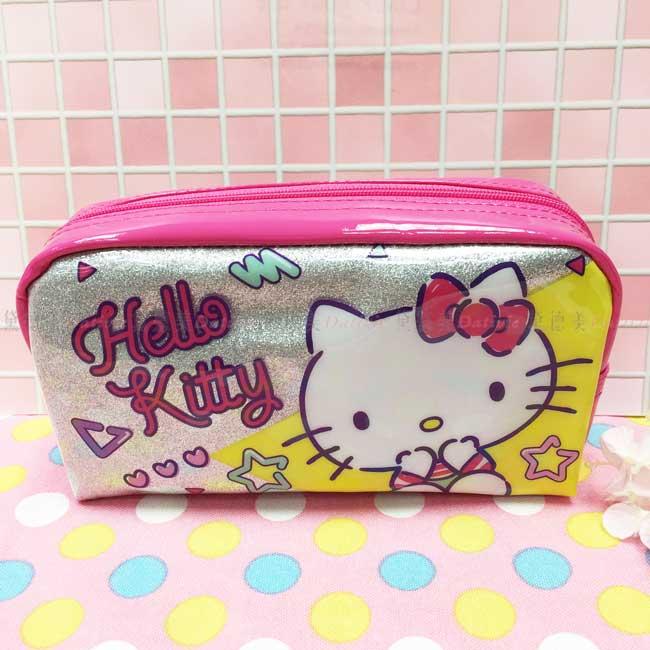 Bling大容量筆袋 三麗鷗 Hello Kitty 拉鍊筆袋 正版授權