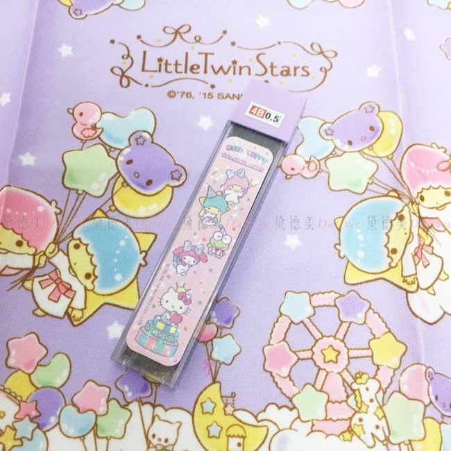 超大筆芯盒 三麗鷗 Kitty 美樂蒂 kikilala 大眼蛙 4B 0.5筆芯 正版授權