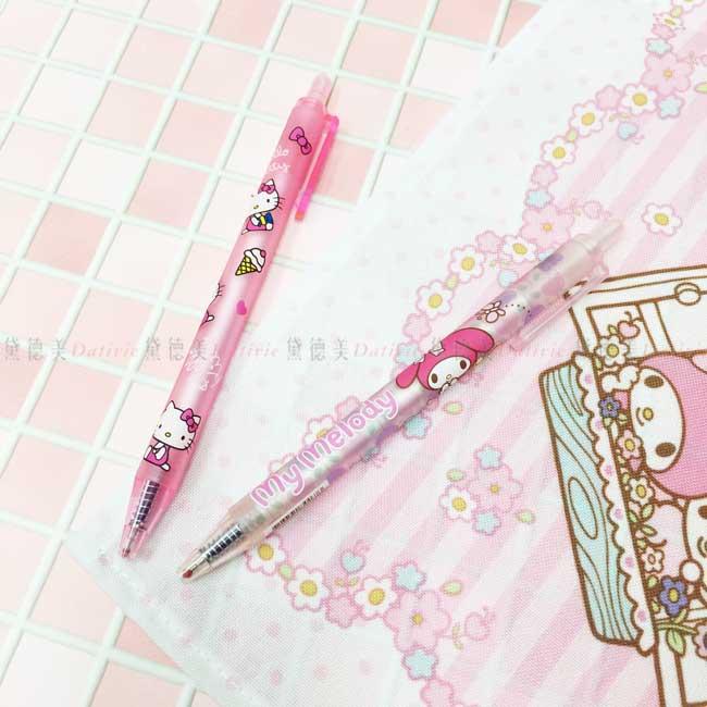原子筆 三麗鷗 Hello Kitty 凱蒂貓 美樂蒂 2款 按壓式原子筆 正版授權