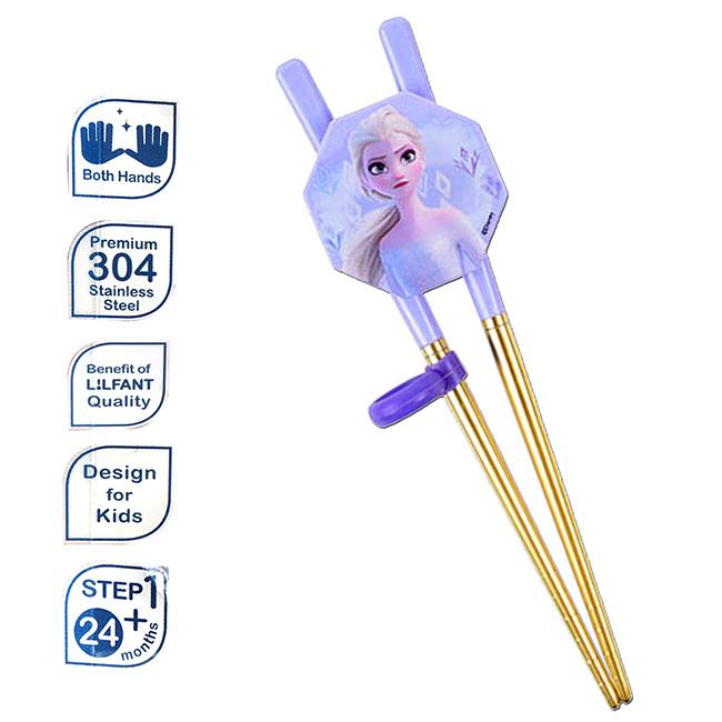 兒童學習筷 迪士尼 冰雪奇緣2 艾莎 ELSA 八角形扣 304不鏽鋼 兒童輔助筷 環保筷 韓國進口正版授權