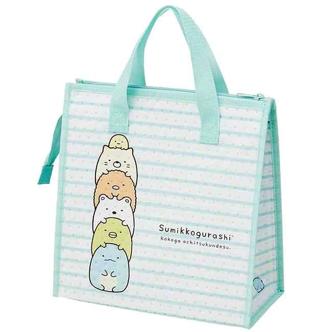 保冷橫紋便當袋 san-x 角落生物 保冷提袋 日本進口正版授權