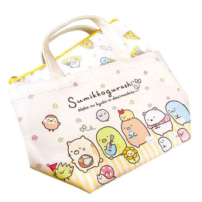 保冷雙層提袋 san-x 角落生物 拉鍊保冷提包 日本進口正版授權