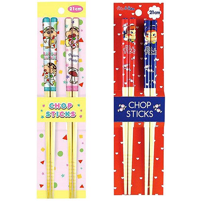 竹筷 蠟筆小新 不二家 2款 餐具 天然竹 日本進口正版授權