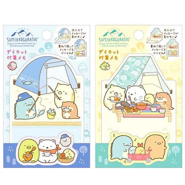 書箋 日本 SAN-X 角落生物 露營系列 便條紙 日本進口正版授權