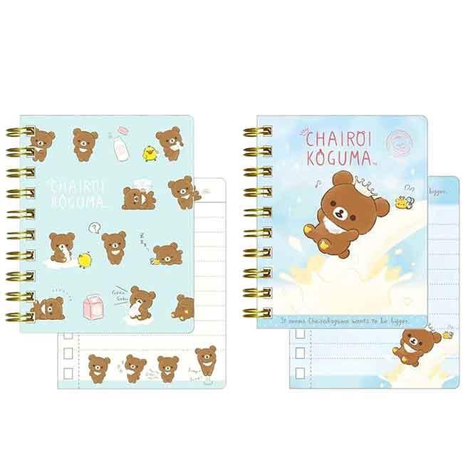 線圈筆記本 日本 懶懶熊 拉拉熊 想長大系列 小記事本 日本進口正版授權