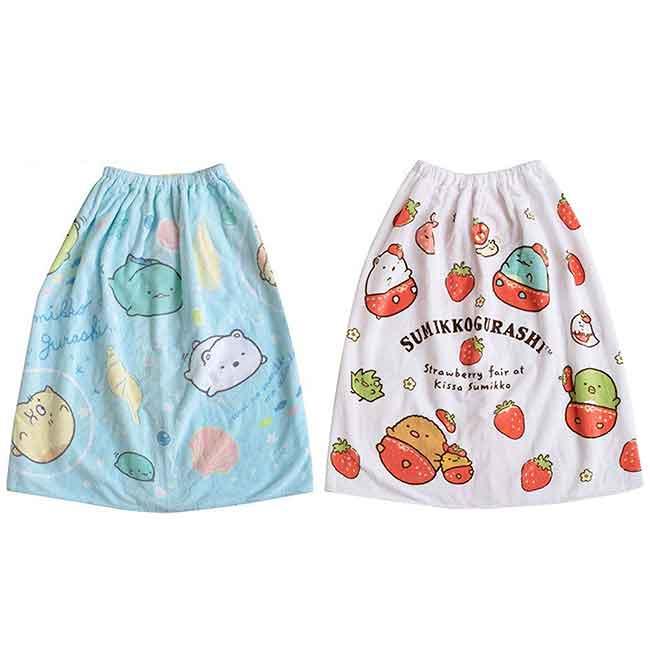 兒童浴裙 SAN-X 角落生物 L 70cm 兩款 圍裙 日本進口正版授權