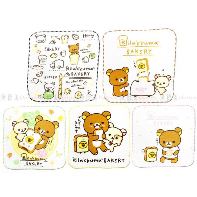 純棉紗布小方巾 SAN-X 拉拉熊 懶懶熊 Rilakkuma 毛巾 正版授權