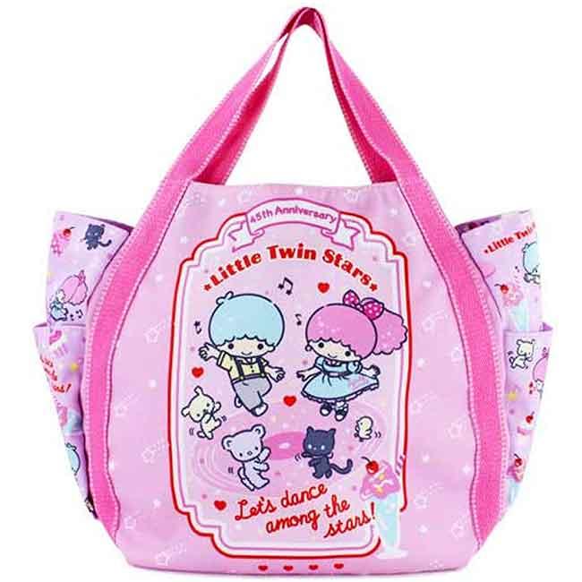 45週年紀念版揹袋 三麗鷗 kikilala 雙子星 多功能提袋 包包 日本進口正版授權