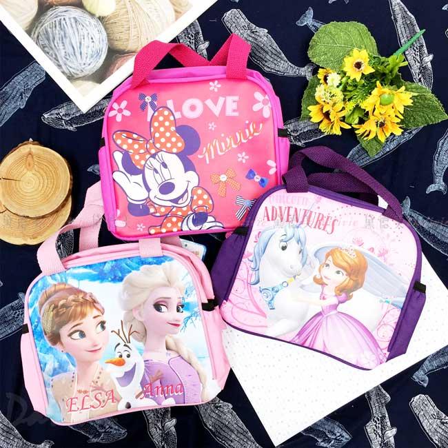 便當袋 迪士尼 米妮 蘇菲公主 冰雪奇緣 Elsa Anna 雪寶 便當提袋 正版授權