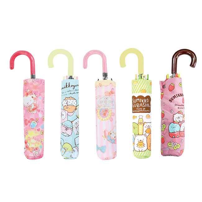 抗風手動摺疊傘 SAN-X 角落生物 三麗鷗 Kitty 美樂蒂 握把摺疊傘 日本進口正版授權