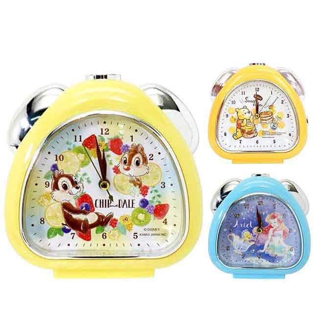 三角形鬧鐘 迪士尼 奇奇蒂蒂 維尼 小美人魚 造型鬧鐘 日本進口正版授權