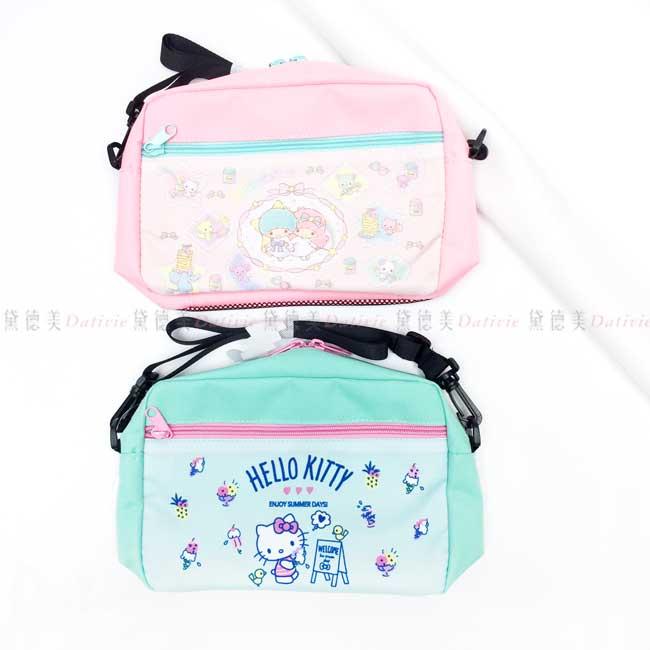 單肩帆布包 三麗鷗 Sanrio 雙子星 Hello Kitty 拉鍊背包 日本進口正版授權