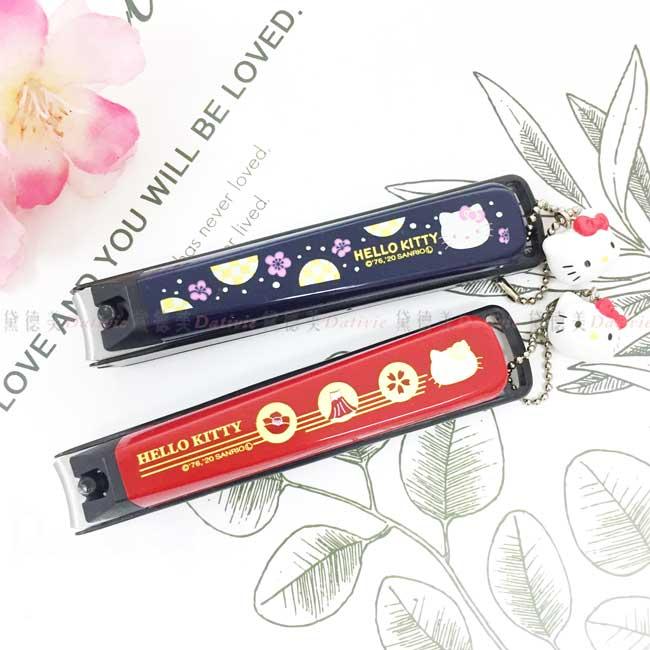 指甲剪 日本 三麗鷗 KT 和風花 椿紅 梅花黑 修指甲剪 日本進口正版授權
