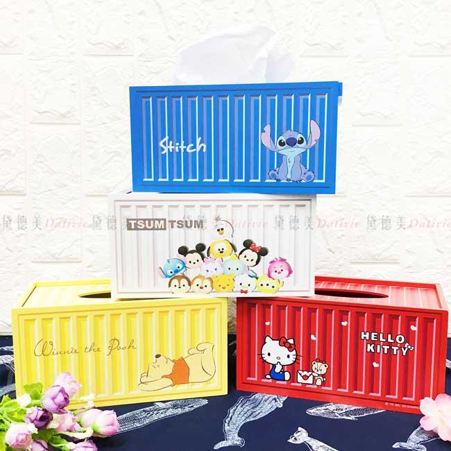 貨櫃面紙盒 迪士尼 史迪奇 維尼 三麗鷗 KITTY 衛生紙盒 正版授權