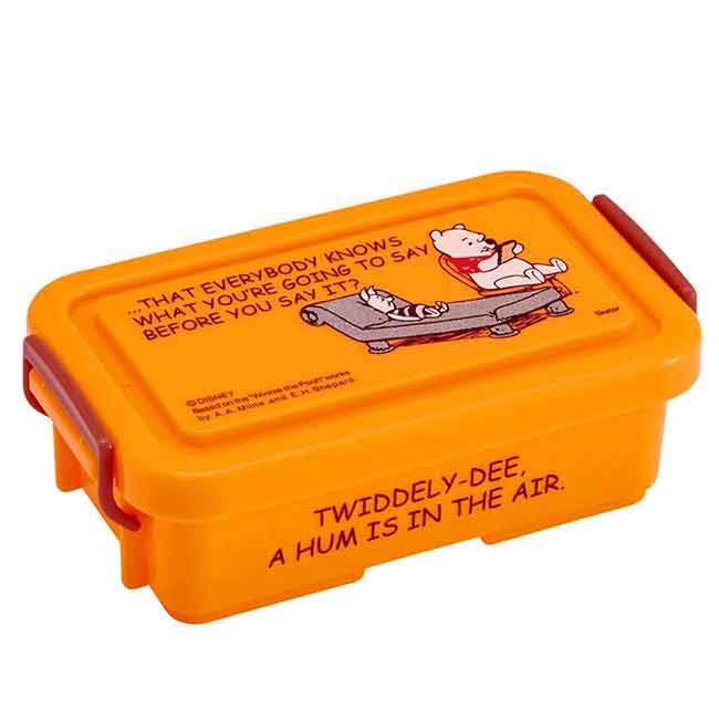 迷你雙扣保鮮盒 迪士尼 維尼 Pooh Skater 340ml 置物盒 日本進口正版授權