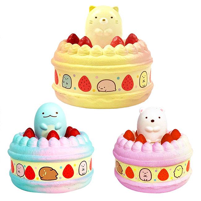 磁鐵蛋糕 SAN-X 角落生物 柔軟蛋糕 造型磁鐵 小物 擺飾 貓咪 恐龍 白熊 3款 日本進口正版授權