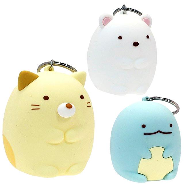 矽膠收納吊飾 SAN-X 角落生物 零錢包 收納包 鑰匙區 吊飾 貓咪 白熊 恐龍 3款 日本進口正版授權