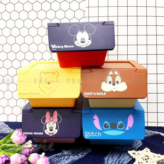 上開造型置物盒 迪士尼 米奇 米妮 奇奇蒂蒂 維尼 史迪奇 小置物櫃 正版授權