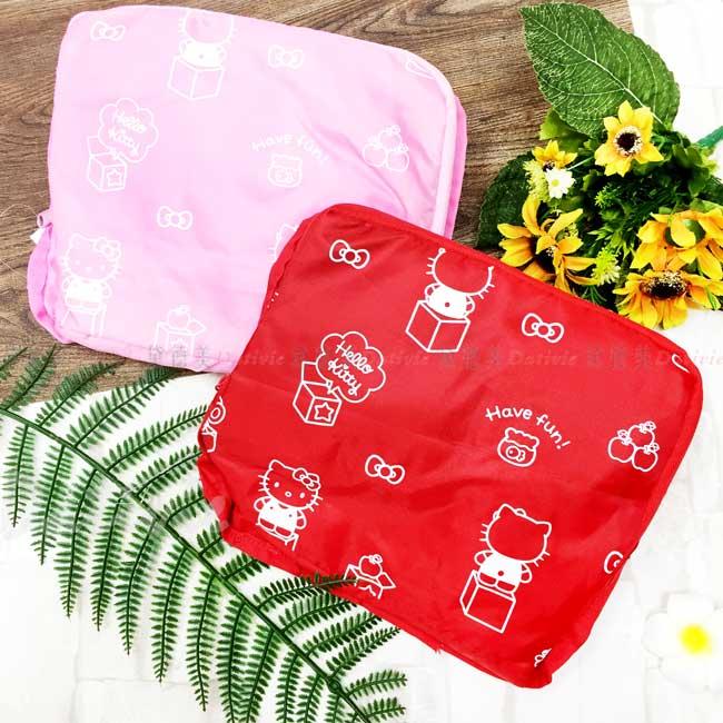 輕便折疊背袋 三麗鷗 Sanrio KITTY 摺疊背包 正版授權