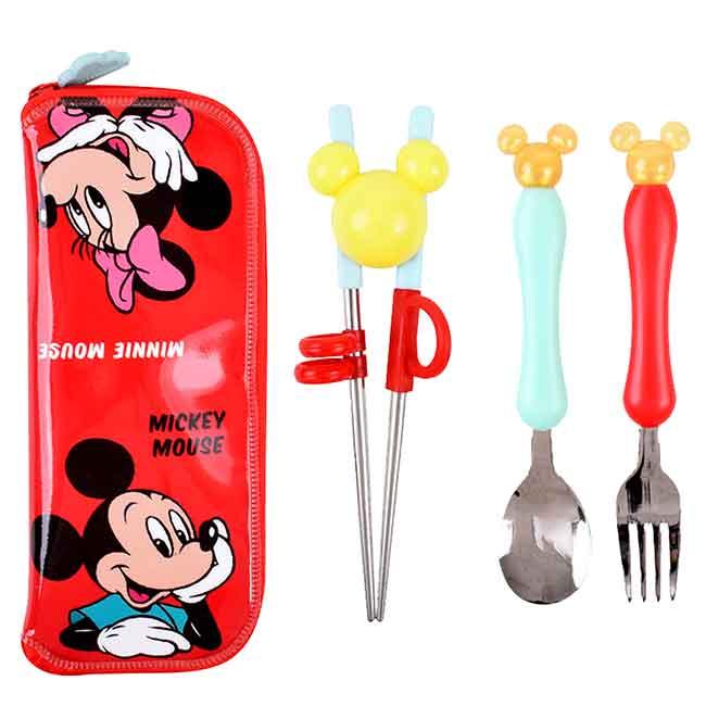 兒童學習筷 韓國 迪士尼 米奇米妮 lilfant 學習餐具組 韓國進口正版授權