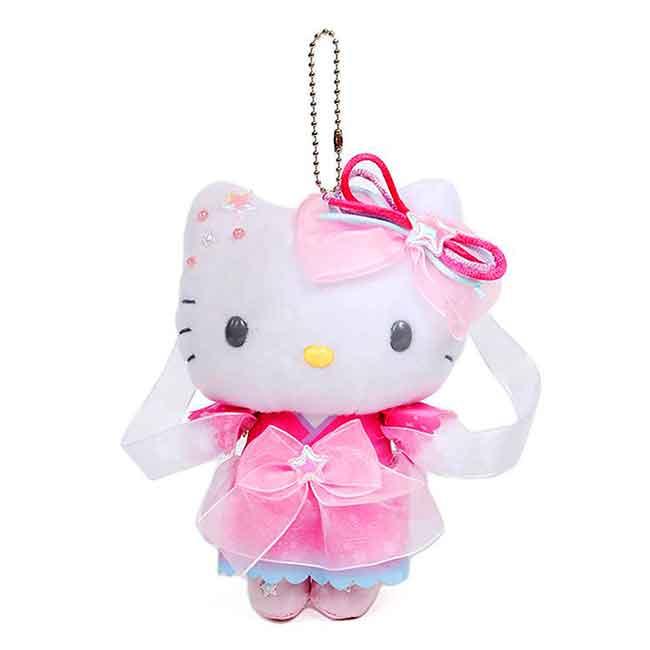 七夕絨毛娃娃吊飾 三麗鷗 KITTY 凱蒂貓 玩偶 日本進口正版授權