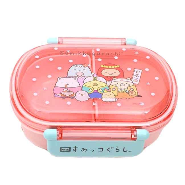 方形塑膠雙扣保鮮盒 日本 SAN-X 角落生物 SKATER 便當盒 日本進口正版授權
