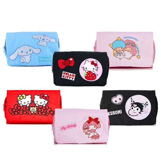 旅行盥洗包 三麗鷗 KITTY 美樂蒂 雙子星 酷洛米 大耳狗 收納包 日本進口正版授權