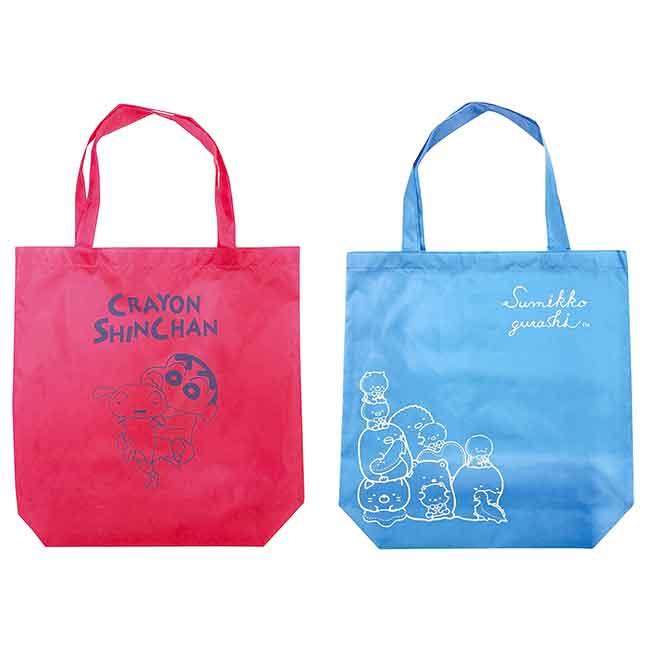 環保購物袋 SAN-X 角落生物 蠟筆小新 收納袋 日本進口正版授權