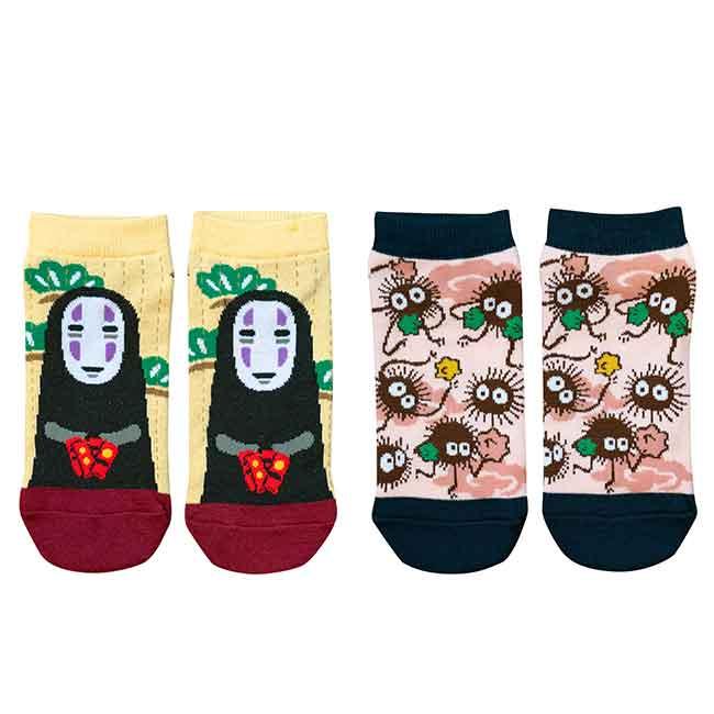 襪子 宮崎駿 無臉男 神隱少女 23~25cm 襪 日本進口正版授權