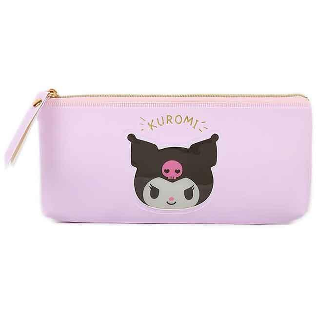 防水皮質拉鍊筆袋 三麗鷗 Sanrio 酷洛米 收納袋 日本進口正版授權