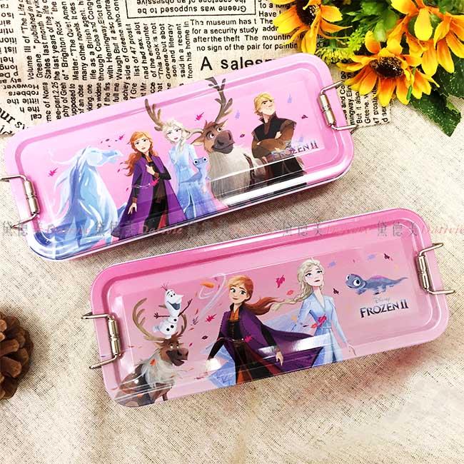 鐵扣三層鐵筆盒 迪士尼 Disney 冰雪奇緣2 鉛筆盒 鐵製筆盒 文具 2款 正版授權