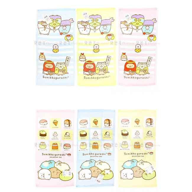 純棉印花童巾 SAN-X 角落生物 純棉 長巾 正版授權