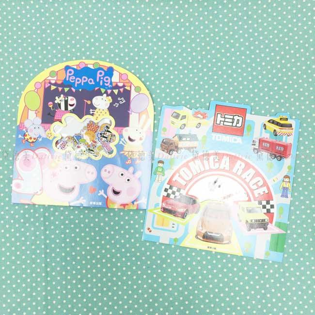 閃亮貼紙包 佩佩豬 TOMICA 50枚入 造型貼紙包 正版授權