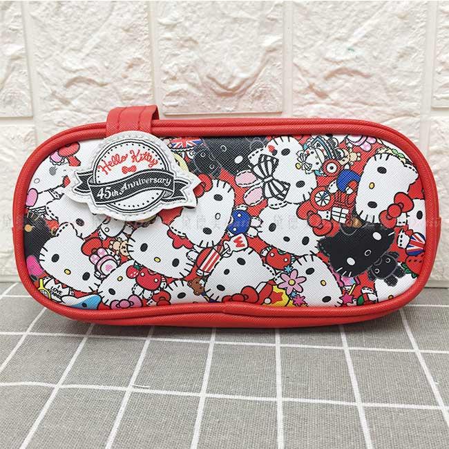 造型筆袋 三麗鷗 Hello Kitty 45th 拉鍊筆袋 正版授權