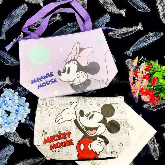 仿質皮手提袋-米奇 米妮 迪士尼 DISNEY  正版授權