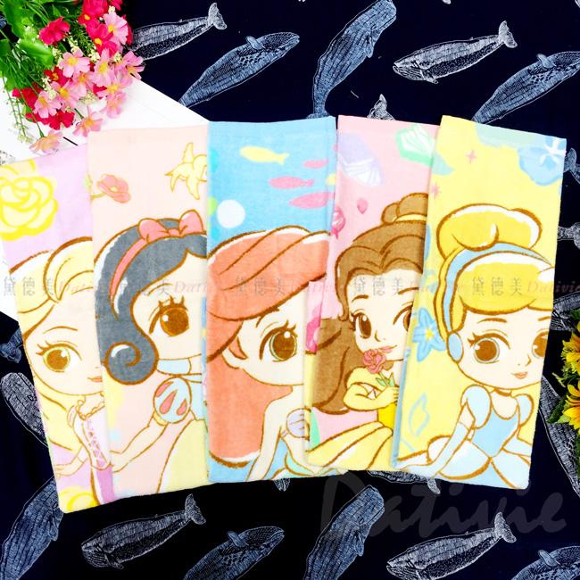 童巾 27x54cm-公主系列 迪士尼 DISNEY 正版授權