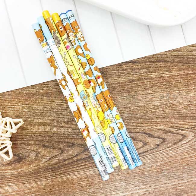 木頭鉛筆 SAN-X 懶懶熊 拉拉熊 6入 可削式鉛筆 正版授權