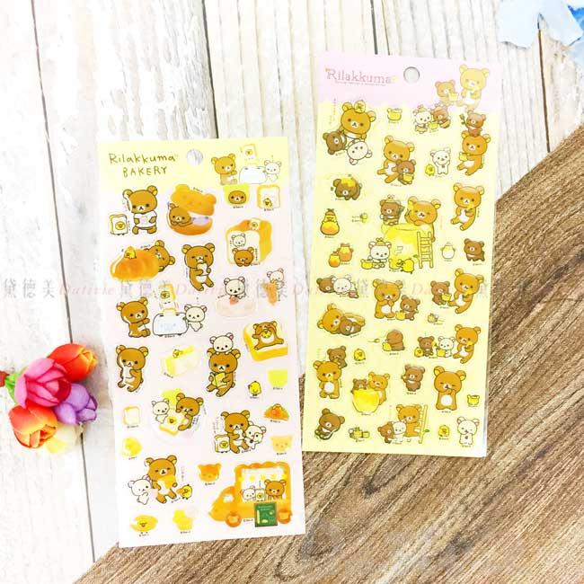點膠貼紙 SAN-X 拉拉熊 懶懶熊 造型貼紙 正版授權