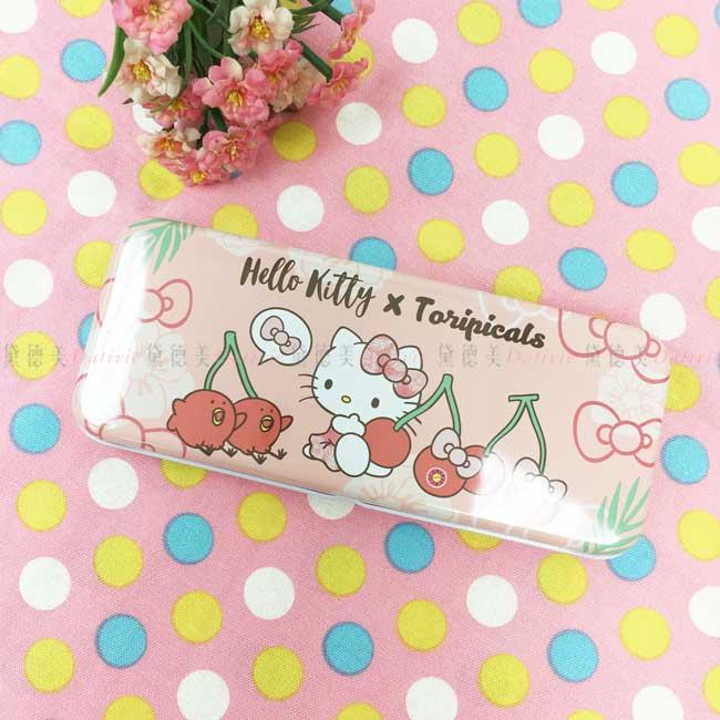 寬雙層筆盒 三麗鷗 tori&KT 凱蒂貓 鐵筆盒 正版授權