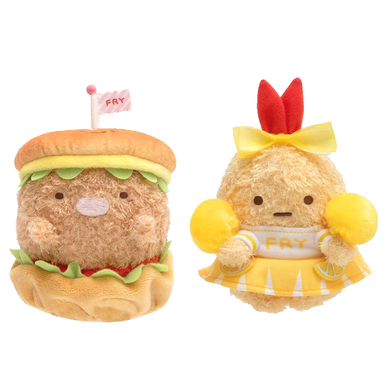 換裝絨毛玩偶-豬排 炸蝦 角落生物 Sumikko Gurashi san-x 兩款  日本進口