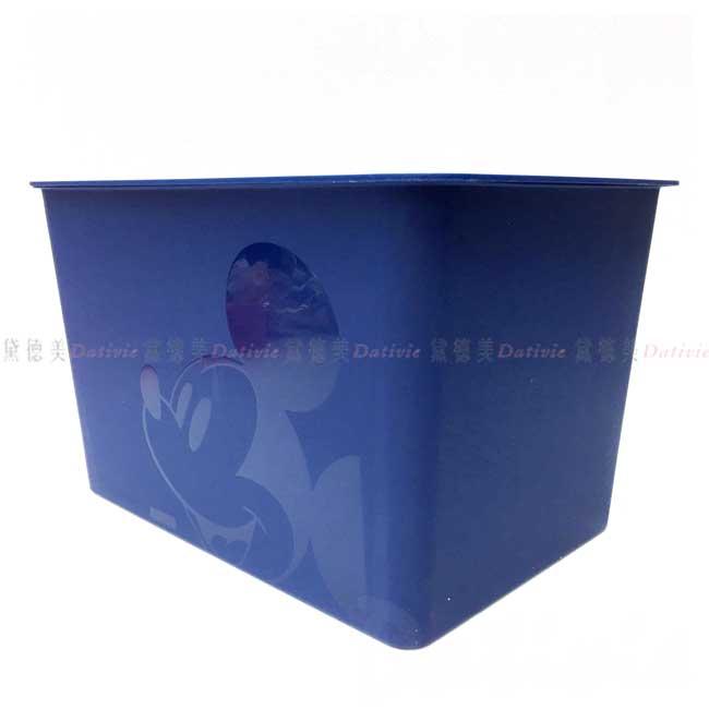 方形塑膠無把拿蓋收納箱L 日本 迪士尼 米奇 17L 置物盒 日本進口正版授權