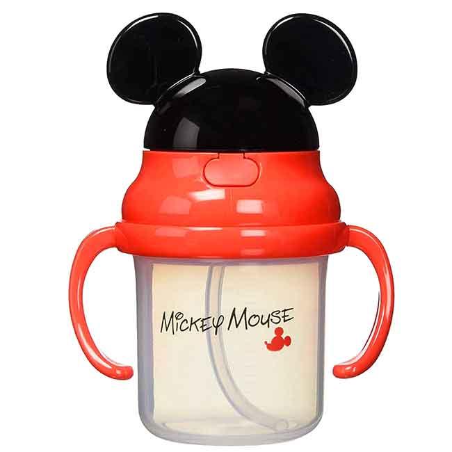 造型吸管練習杯 DISNEY 米奇 8個月 SKATER 學習水杯 日本進口正版授權