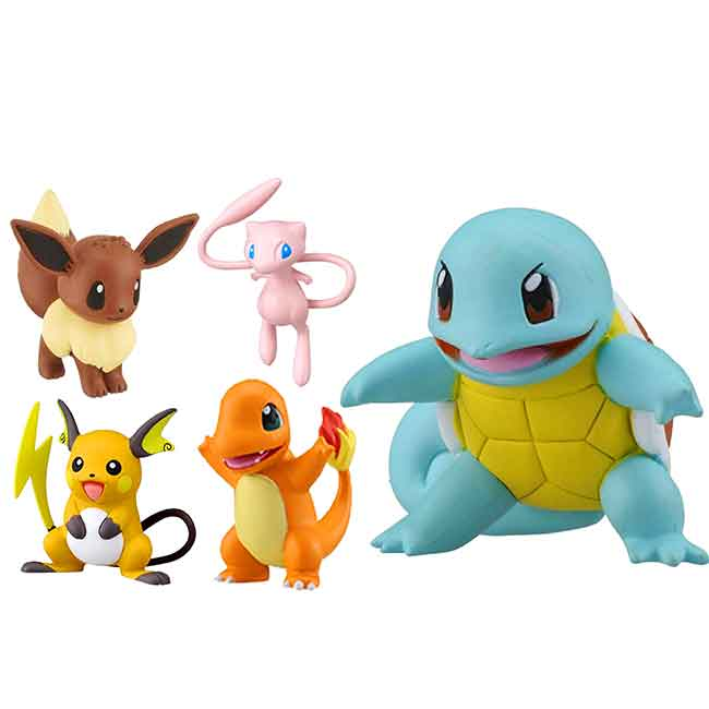 迷你塑膠公仔 寶可夢 傑尼龜 夢幻 伊布 小火龍 雷丘 玩具 日本進口正版授權