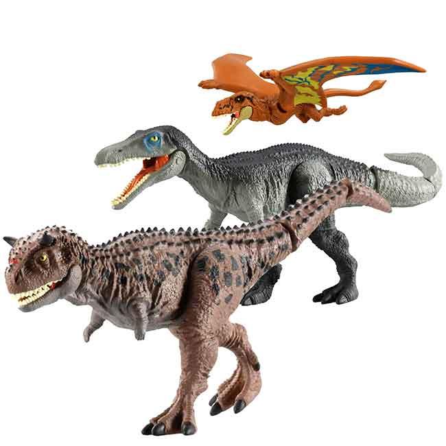 塑膠恐龍公仔 侏儸紀世界 雙型齒翼龍 食肉牛龍 重爪龍 TAKARA TOMY 玩具 日本進口正版授權