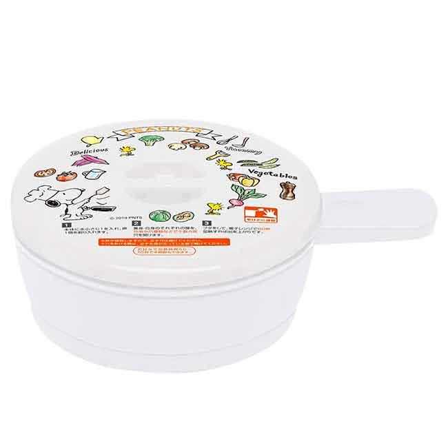 圓形單耳微波保鮮盒 日本 史努比 SNOOPY PEANUTS 容器盒 日本進口正版授權