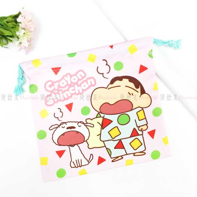 棉質束口袋 蠟筆小新 睡衣 CRAYON SHINCHAN 收納袋 日本進口正版授權