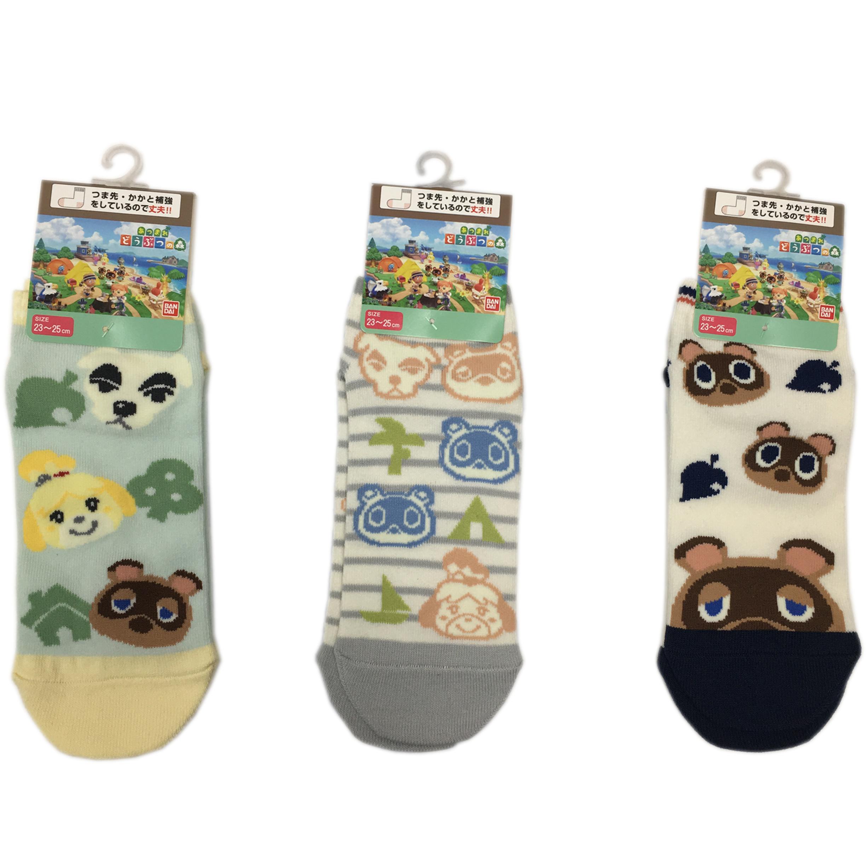 動物森友會 襪子 直版襪 卡通 可愛 日本進口