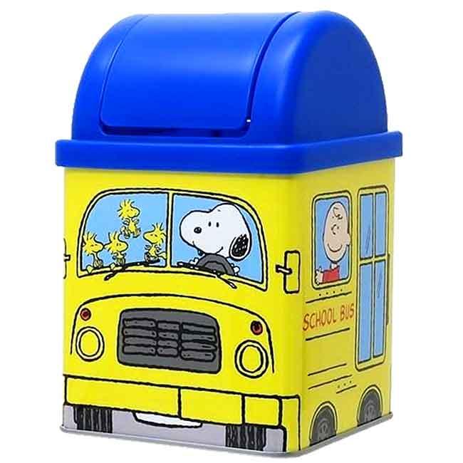 桌上型平衡蓋垃圾桶 日本 史努比 SNOOPY PEANUTS 造型垃圾桶 日本進口正版授權