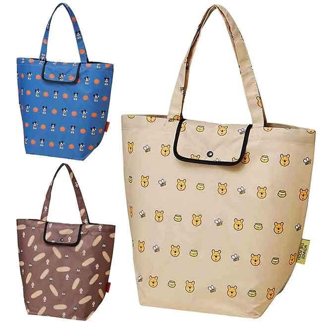 折疊尼龍環保購物袋 迪士尼 米奇 維尼 奇奇蒂蒂 摺疊購物袋 日本進口正版授權