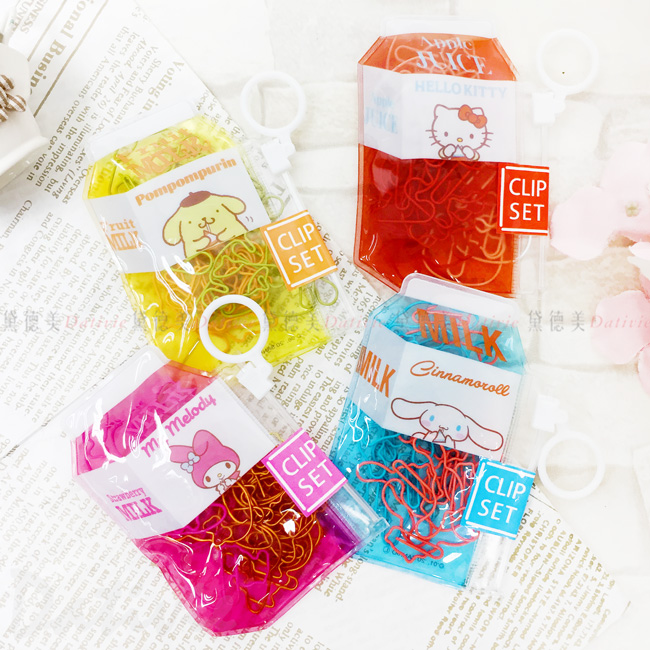 造型迴紋針附收納包-美樂蒂 大耳狗 凱蒂貓 布丁狗 KITTY 三麗鷗 Sanrio 日本進口
